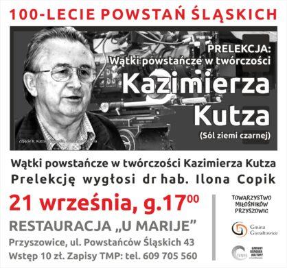 Plakat dotyczcy prelekcji o twrczoci Kazimierza Kutza