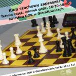 Ogłoszenie dotyczące zajęć szachowych.