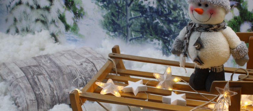 Zimowe studio  przygotowania do wystawy fotograficznej