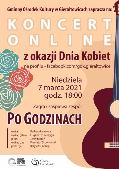 Koncert online z okazji Dnia Kobiet niedziela 7 marca 2021 godzina 1800