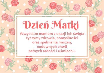 plakat z yczeniami z okazji Dnia Mamy