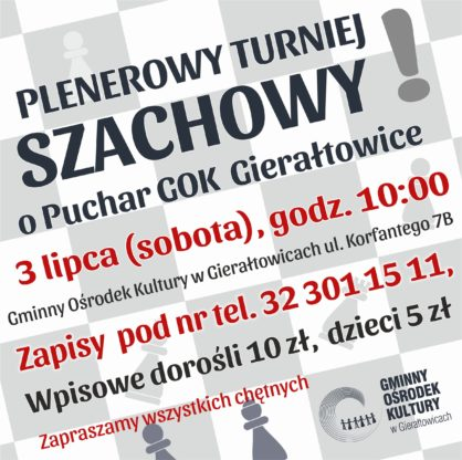 Turniej szachowy  plakat