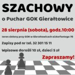 ogłoszenie o turnieju szachowym