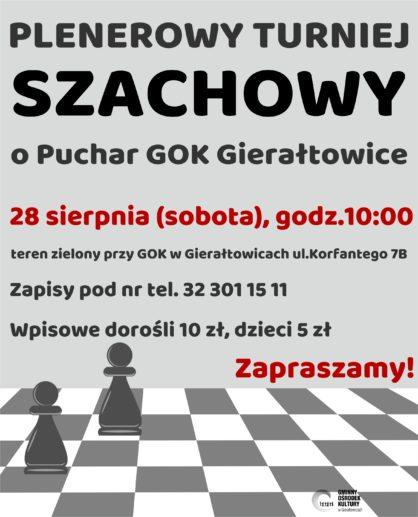 ogoszenie o turnieju szachowym
